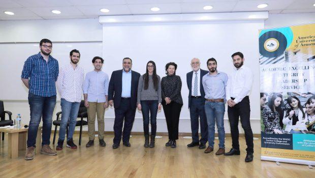 Ruben Vardanyan, Veronika Zonabend Visit AUA, Meet Aurora Gratitude Scholars