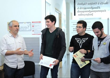 AUA CSE Students Receive Math Olympiad Certificates