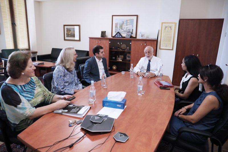 Deborah Grieser, USAID Armenia Mission Director, and Tina ...