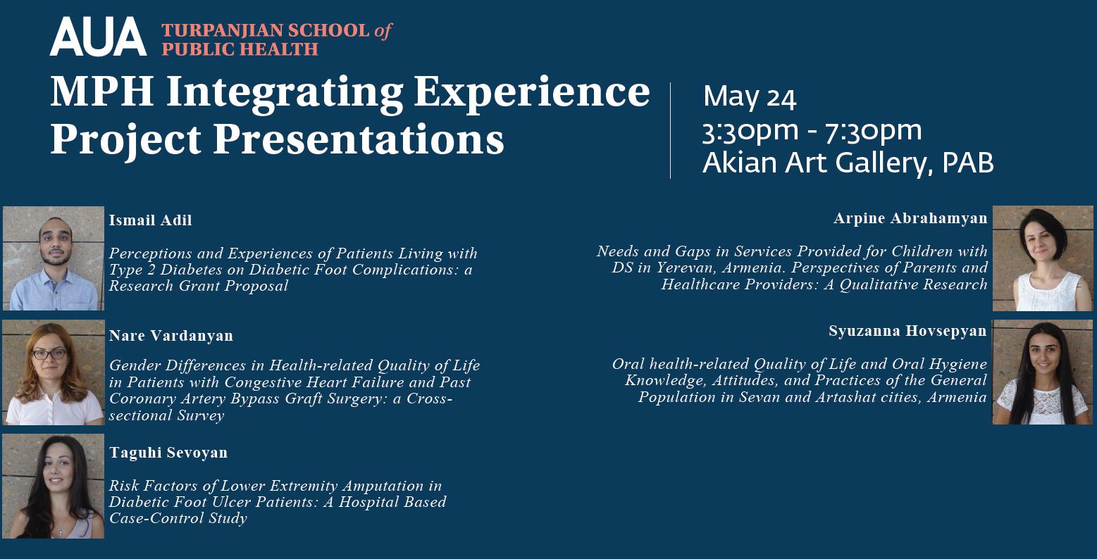 MPH Integrating Experience Project Presentations – AUA Newsroom