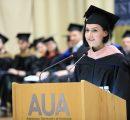 Arpine Abrahamyan (MPH '19), graduate valedictorian