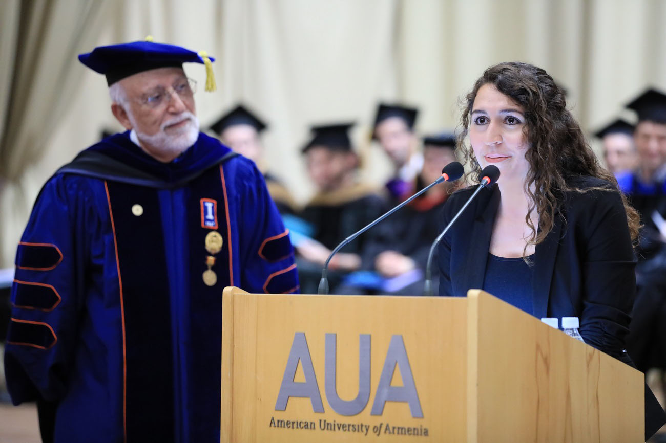 American University Graduation 2020.Taline Magdalena Akkaya Receives Merit Award