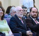 (l-r) Nelly Der Kiureghian, Dr. Armen Der Kiureghian, Dr. Arayik Harutyunyan