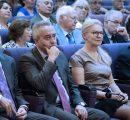 (l-r) Gevorg Goyunyan, Ashot Ghazaryan, Dr. Karin Markides, Zaven Akian