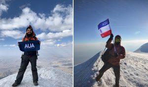 Shahan Jebejian and Narek Ghazaryan on Mount Ararat