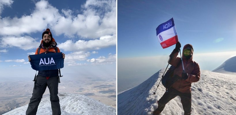 Shahan Jebejian and Narek Ghazaryan on Mount Ararat