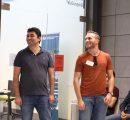 CS Program Chair Dr. Hayk Nersisyan and Sos Badalyan