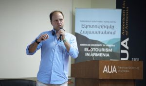 Thiago Souza at AUA Ecotourism Conference