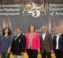 (l-r) Chaghig Arzrouni-Chahinian, Tom Samuelian, Anahit Ordyan, Mnatsakan Mkrtchyan, Satenik Avakian, 2016
