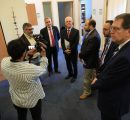 U.S. delegation meeting AUA Acopian Center Director Alen Amirkhanian