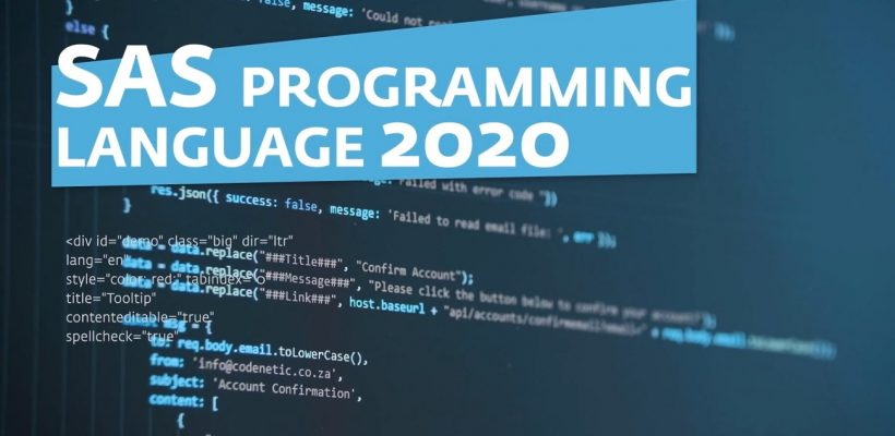 SAS Programming Language 2020