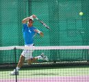 Mikayel Avetisyan on the tennis court