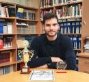 Mikayel Avetisyan with his awards