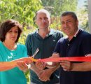 Anna Ghazaryan on the left cutting the ribbon for the opening of her Anna Home B&B