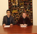 CEO of the Startup Armenia Foundation Arsen Harutyunyan and AUA Provost Dr. Randall Rhodes