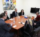 Representatives from the U.S. Mission in Armenia and the Region hosted by AUA President