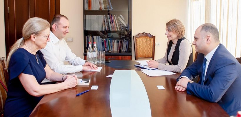 AUA President Dr.Karin Markides and AUA Lecturer Karen Sarkavagyan