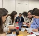 AUA team preparing for the Finance Challenge 2020 (Photo - IAB)