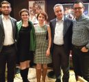 Three AUA alumni with Ashot Ghazaryan and Shahan Jebejian