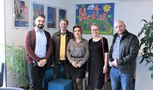 (l-r) Narek Ghazaryan, Aram Hajian, Irina Dumanyan, Karin Markides, Artur Khalatyan