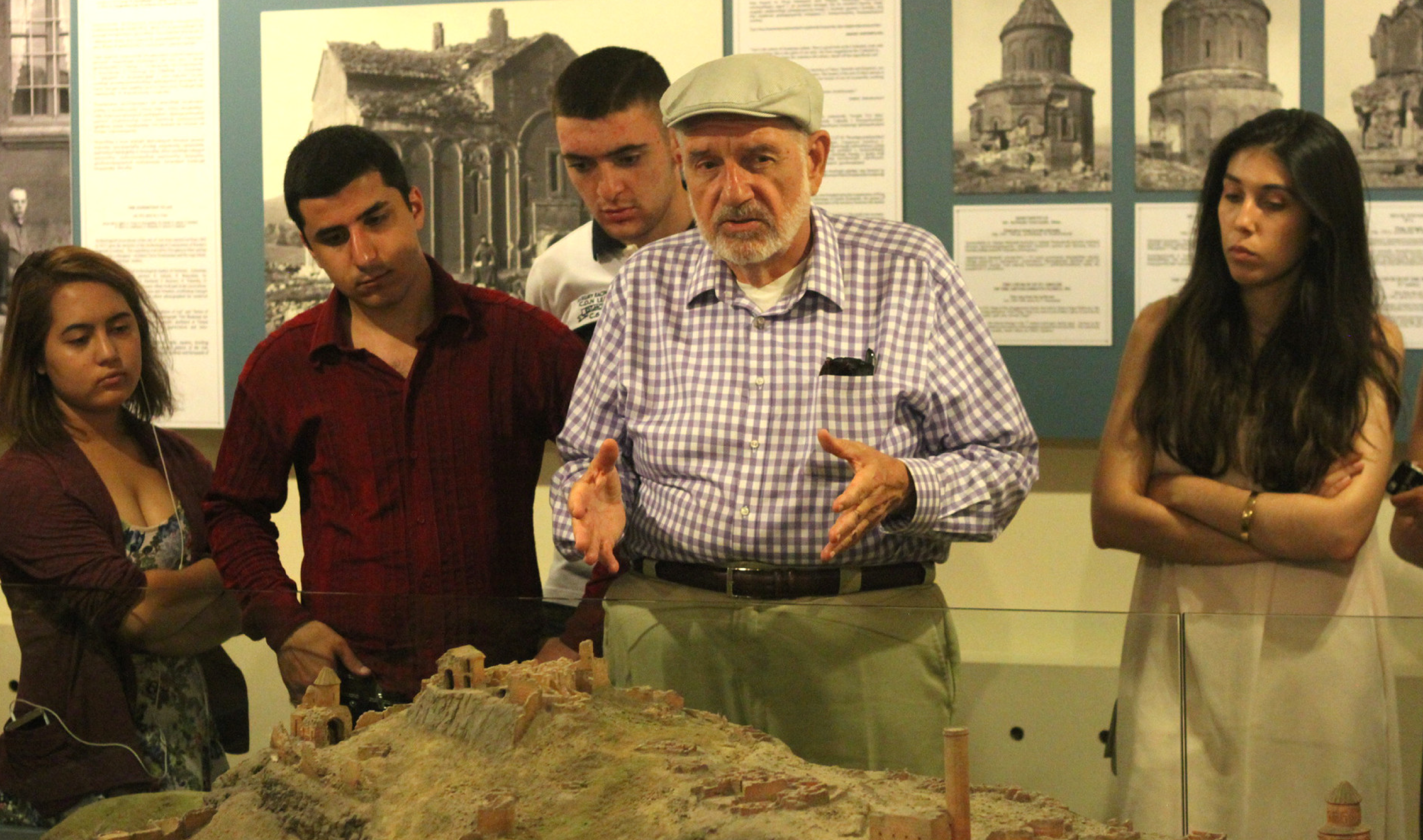 Dr. Areshian at the Erebuni Museum