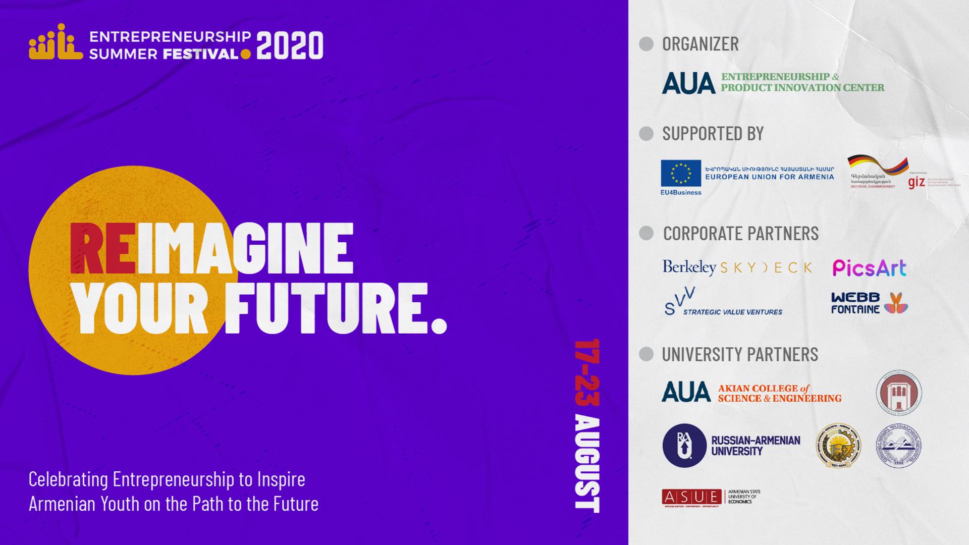 Entrepreneurship Summer Festival 2020: Reimagine Your Future