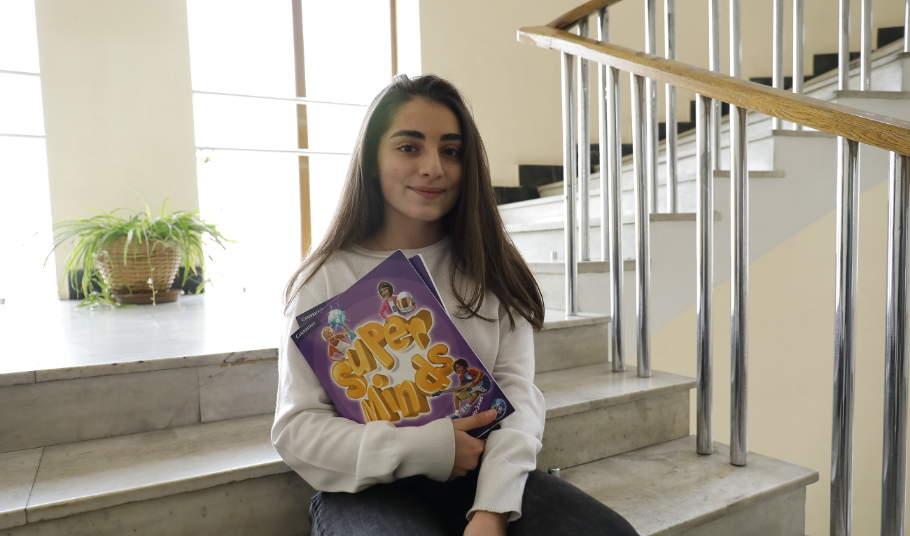 Nana Hayrumyan with her purple books