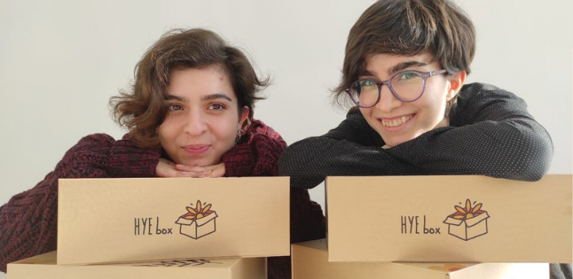 Elmira Gabrielyan and Elen Gabrielyan, founders of Hye Box