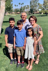 Vahik and Alice Petrossian with grandchildren Christopher, Sebastian, and Katherine