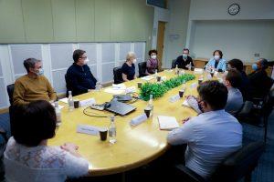 USAID representatives and AUA leadership