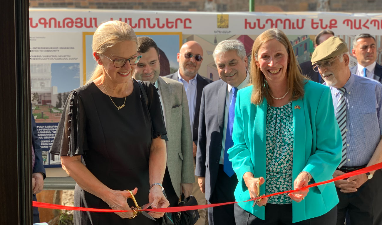 AUA President Dr. Karin Markides and U.S. Ambassador to Armenia Lynne M. Tracy
