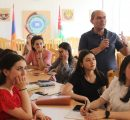 Online training with Artsakh State University faculty, staff, students