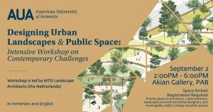 DESIGNING URBAN LANDSCAPES AND PUBLIC SPACE: INTENSIVE WORKSHOP ON CONTEMPORARY CHALLENGES