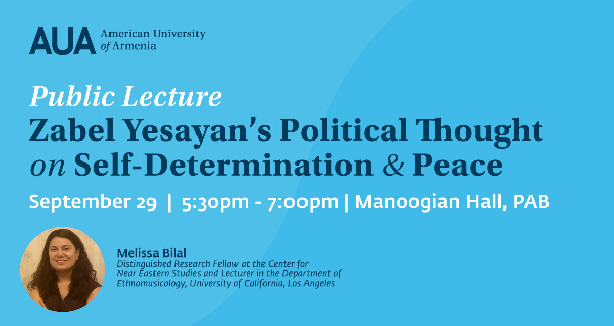 Zabel Yesayan's Political Thought on Self-Determination and Peace