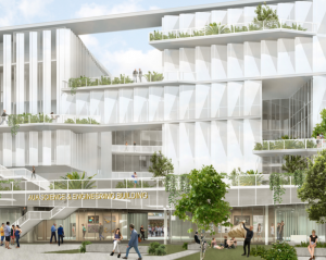 Rendering of the new AUA Science & Engineering Building designed by Marlene Imirzian & Associates Architects
