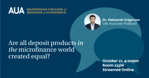 Research Seminar Series on Financial Inclusion: Are All Deposit Production in the Microfinance World Created Equal?