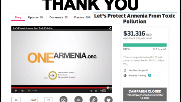 Thank you from AUA: Mining Pollution Testing Equipment Fundraising Goals Exceeded