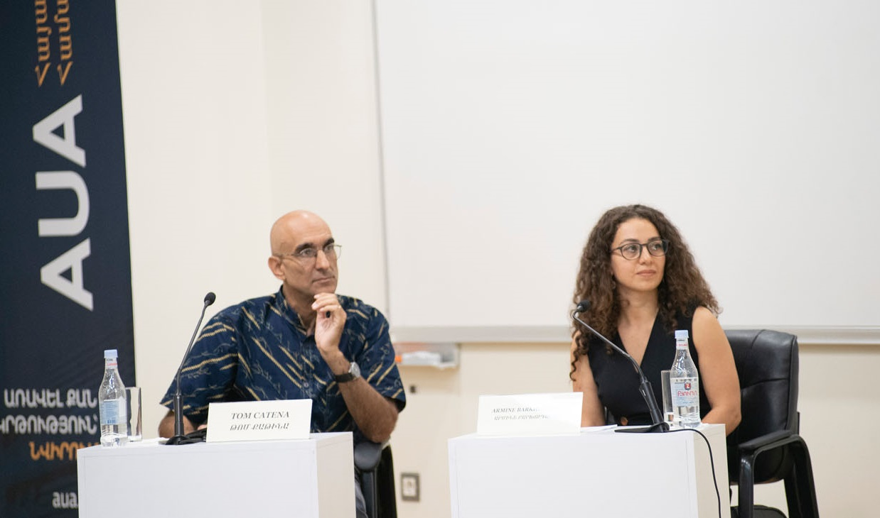 Dr. Tom Catena and Dr. Armine Barkhudaryan at AUA