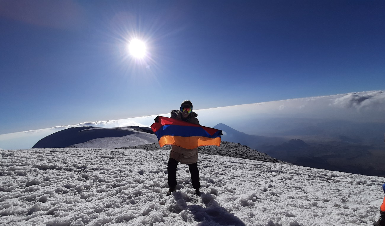 Luiza Vardanyan on Mount Ararat