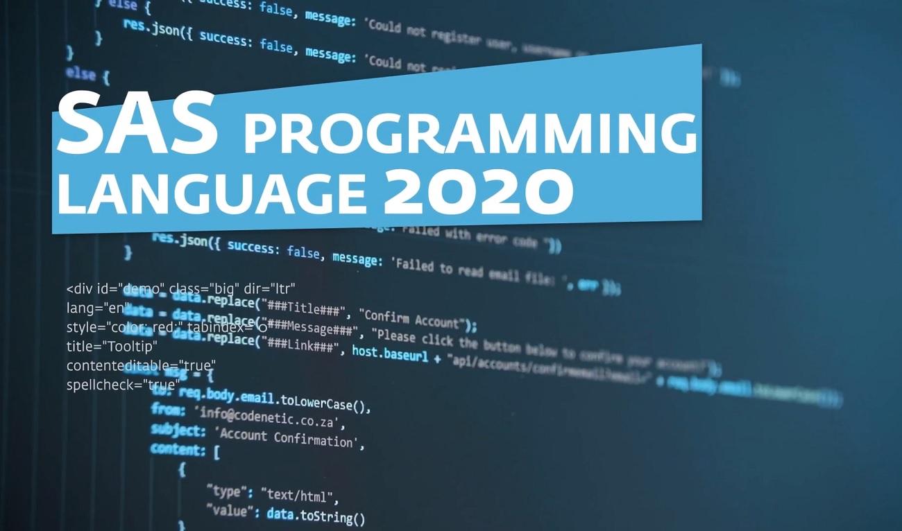 SAS Programming Language 2020