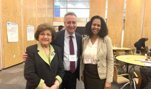 (l-r) AUA donor Rita Balian, AUA VP of Operations Ashot Ghazaryan, Azara Turaki, Program Manager and Sr. Grants Specialist at USAID