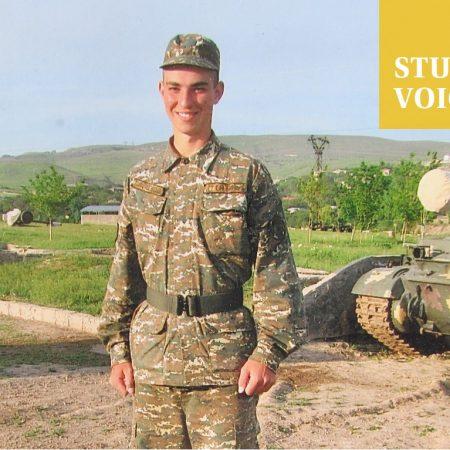 Aram Adamyan in the military