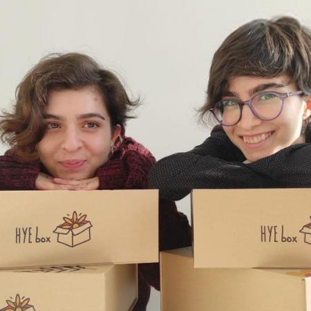 Elmira Gabrielyan and Elen Gabrielyan, founders of Hye Box